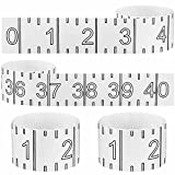 4 Pieces Fish Ruler Sticker Adhesive Transparent Fish Ruler 40 Inch Fishing Measuring Tape Transparent Waterproof Decal Tape for Fishing Boat (Black)