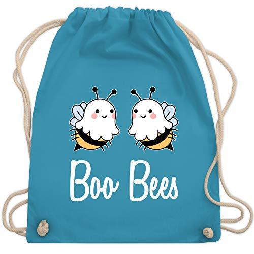 Shirtracer Halloween - Boo Bees - weiß - Unisize - Hellblau - Brüste - WM110 - Turnbeutel und Stoffbeutel aus Baumwolle
