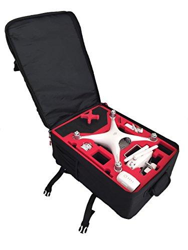 Zaino zaino di trasporto adatto per il DJI Phantom 4 da MC-Cases e con abbondanza di spazio e comfort