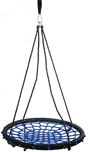 N\A Home Round Indoor Adult Sports Hammock Child Rotatable Adjustable Rope Outdoor Toy Steel Frame 23inch Garden Swing (Color : -, Size : -)