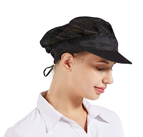 Nanxson 3pcs Unisex Chef Hat Elastic Kitchen Chef Hat Cooking Chef Cap Food Service Hair Net CF9061 (Black)