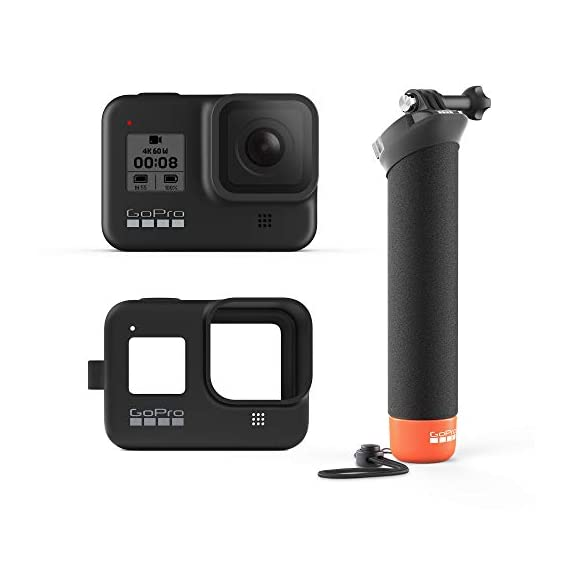 GoPro Hero8 Black Holiday Bundle - Includes Hero8 Black Camera Plus Shorty, Head Strap, 32GB SD Card, and 2 Rechargeable… 1 HyperSmooth 2.0: HERO8 Black has three levels of stabilization – On, High and Boost. Get the widest views, or boost to the smoothest video ever offered in a HERO camera. Works with all resolutions and frame rates, and features in-app horizon leveling Streamlined Design: The re-imagined shape is more pocketable, and folding fingers at the base let you swap mounts quickly. A new side door makes changing batteries even faster, and the lens is now 2x more impact-resistant compared to previous models Expandable Mods: Vloggers, pro filmmakers and aspiring creators can do more than ever imagined with our HERO8 Black mods (sold separately). Media Mod gives you shotgun-mic performance and lets you attach Light Mod and Display Mod to up your capture game