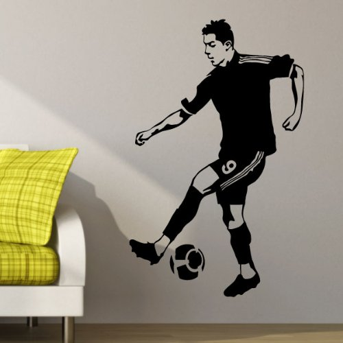 Ambiance-Live Wandtattoo Ronaldo - 55 x 30 cm, Türkis
