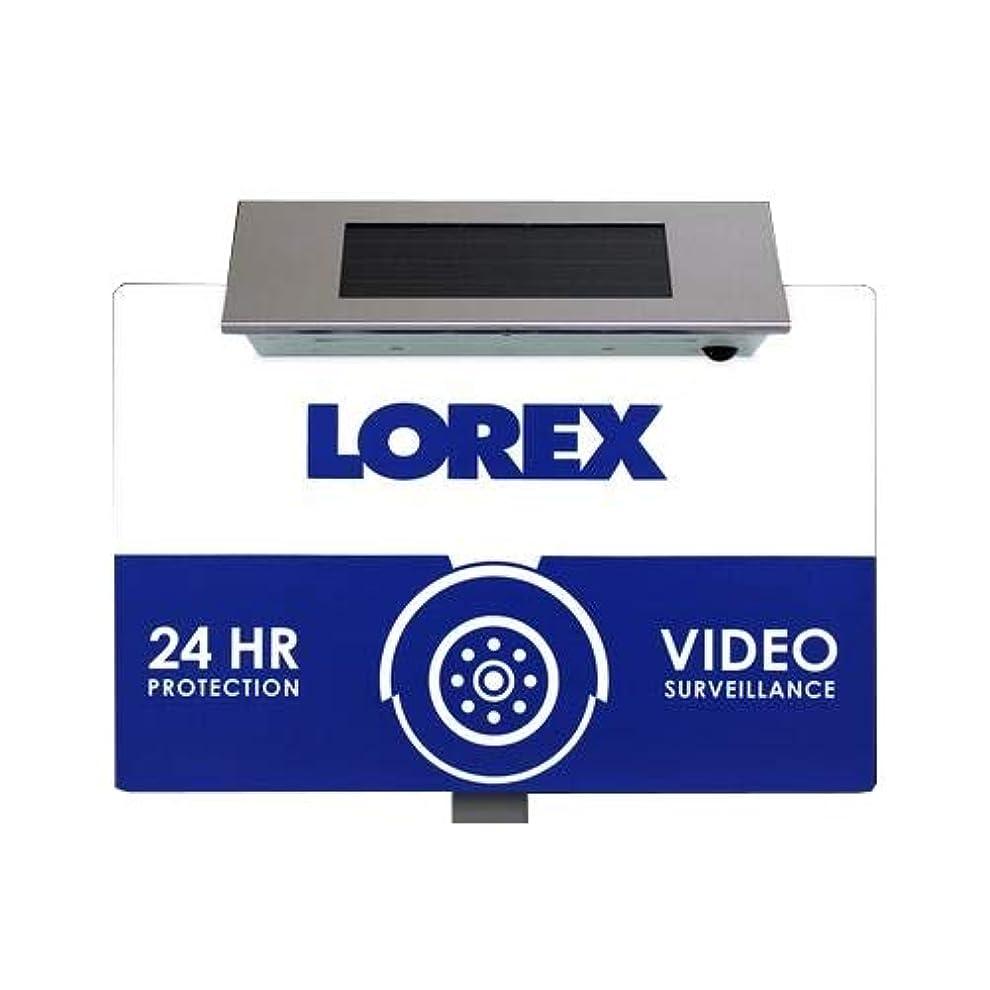 かる反逆者散逸Lorex ACCYARD1 屋外セキュリティヤードサイン ソーラー電源LEDライト付き