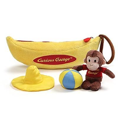 GUND Curious George Banana Sensory Skills Stuffed Animal Plush Playset
