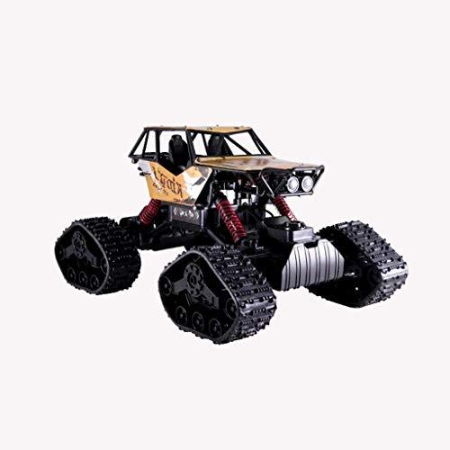 THj Modelo de Coche Buggy de Control Remoto Juguete para niños Tracción en Las Cuatro Ruedas Modelo de aleación de Escalada de Alta Velocidad Colección de Regalos sobre orugas de Carga (Color: Rojo)