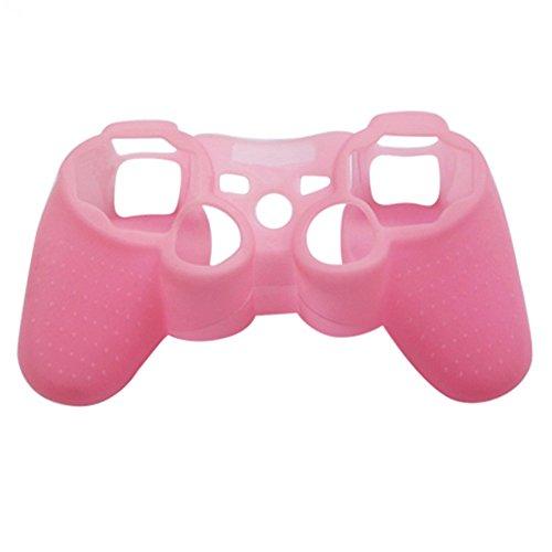 Steellwingsf - Funda protectora de silicona para mando de Playstation 3 PS3 Gamepad rosa rosa talla única