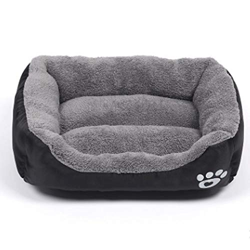 XiuHUa Pet Nest, Pet Bed, Haustier-Matte, Herbst und Winter Kennel Haustierzubehör (Color : Black, Size : XXXL)