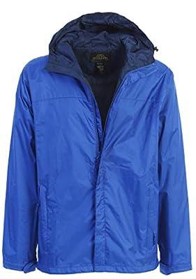 Gioberti Men's Waterproof Rain Jacket, Royal Blue, L from China