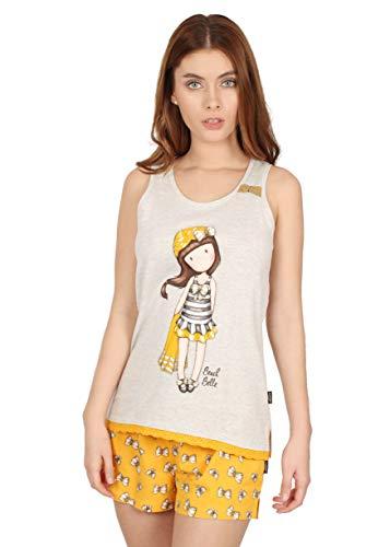 Santoro Pijama Tirantes Beach Belle para Mujer, Color Mostaza, Talla L