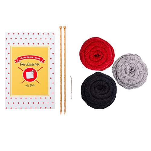 Knit Picks Learn to Knit Beginner Kit: Dishcloth (Diner)