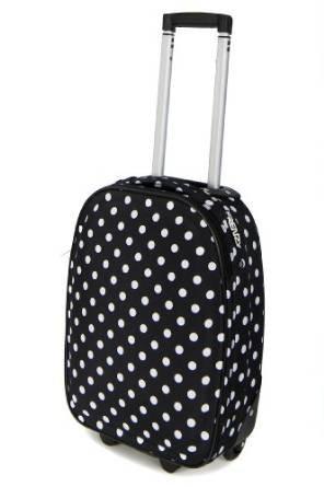 Frenzy 205 18' Wheeled Luggage 48x33x19cm Black Polka Dot