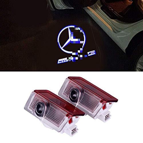 Auto Türbeleuchtung Autotür Logo Projektion Licht 3D Laser Licht Willkommen Licht LEd Door Shadow Lampe (For AMG - 2PCS)