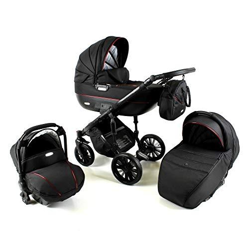 Stroller Set 3in1 2in1 Isofix Ottis Black 2020 by Lux4Kids Gold Obi-03 4in1 car seat +Isofix