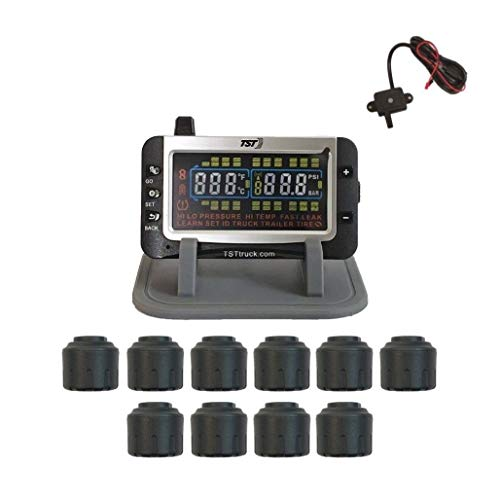 Truck Systems Technology TST 507 Tire Pressure Monitor w/ 10 Cap Sensors with Color Display