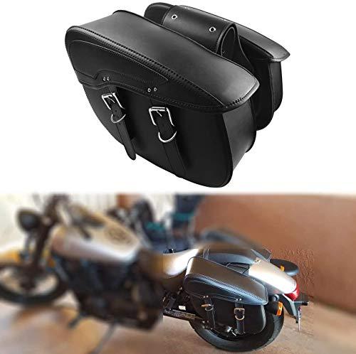 YHMTIVTU Motorcycle Saddlebags Waterproof Side Tool Bags Fit for Harley Sportster 883 Suzuki Black