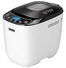 UNOLD 68010 Backmeister automate à pain, 1 kilogram, noir et blanc