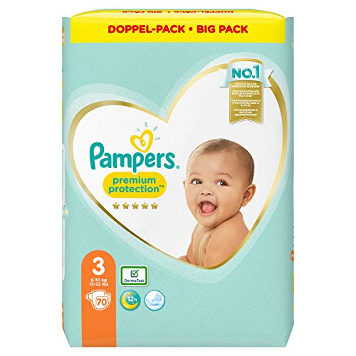 Pampers Premium Protection Taille 3 70 couches 6 kg 10 kg (2 x 1,6 66 kg)