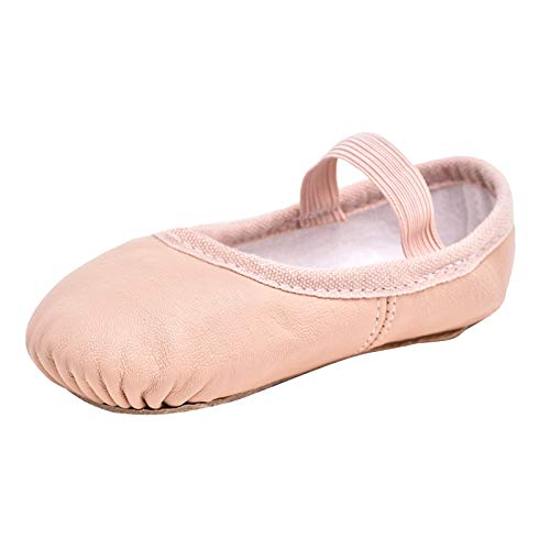 STELLE Premium Authentic Leather Ballet Slipper/Ballet Shoes (Toddler/Little Kid) (9MT, Ballet Pink)