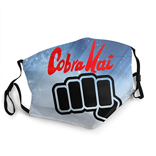 Face Scarf Cobrakai Karate Kid Earloop With 2 Filter Men Printing Multi Usage Mouth Scarf Face Scarf Windproof Anime Reusable Sun Protection Breathable Adjustable Face Protection