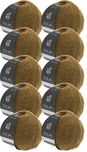 Lana Grossa Cool Air color 14 - Confezione di lana merino con alpaca, 10 x 50 g, per lavorare a maglia o all'uncinetto