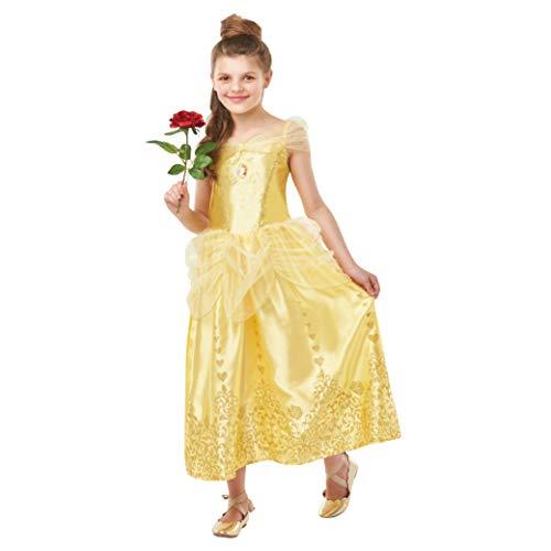 Rubie s- Official Disney Princess Belle Costume con gemme. Ragazze, Yello, s, 640710S
