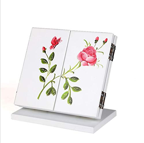 GYC Tragbares Home Office Handgemacht Handbemalt DREI Spiegel Klappspiegel Schminkspiegel Kosmetikspiegel Home Ornamente, pink
