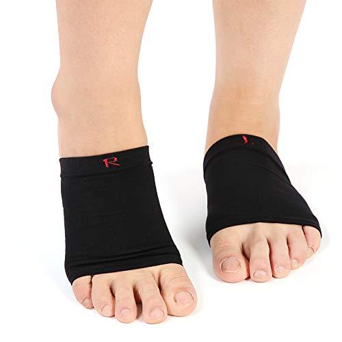 Soporte para el arco, cojín unisex Plantillas para zapatos Almohadillas Ortopédicas Pies de silicona Soporte para el arco del pie Compresión Mangas del arco Fascitis plantar Alivio del