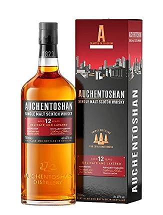 Auchentoshan, 12 Años Single Malt Whisky Escoces, 40%, 700ml