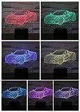 3D-Auto Nachtlicht, 7 Farben Ändern Mit Fernbedienung, Wohn- / Schlafzimmer Tisch Schreibtisch Schlafbeleuchtung, Kindergeburtstagsgeschenke, Spielzeug Für Jungen-D