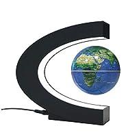 ライフデコレーショングローブフローティングオフィスデスクデコレーションマグネティックサスペンションCShapedベース3インチブルールミナスバースデーギフトホームデコレーション