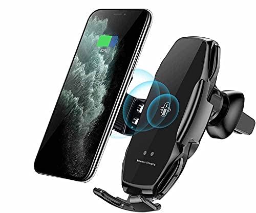 MRTYU-UY Soporte de Cargador de Coche inalámbrico, sujeción automática de detección Inteligente 10W Cargador de Coche con Soporte de ventilación de Aire rápido, para iPhone XS XR XS MAX/Galaxy S9