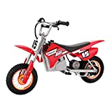 Razor MX400 Dirt Rocket 24V Electric Toy Motocross Motorcycle Dirt Bike, Red