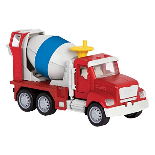 DRIVEN by Battat – Micro Cement Truck – Toy Cement Truck with Light and Sound Effects for Kids Age 4+