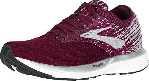 Brooks Womens Ricochet Running Shoe - Fig/Wild Aster/Grey - B - 11.5