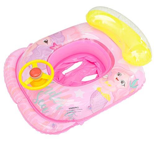 Abaodam Baby Pool Float Sitz Kinder Wasser Spielring Lenkrad Schwimmring Pool Röhren Schwimmbad Spielzeug