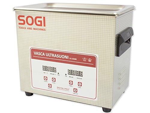 VASCA AD ULTRASUONI INOX PULITORE ULTRASUONI + RISCALDAMENTO 3,2 L 100W SOGI VL-U320R