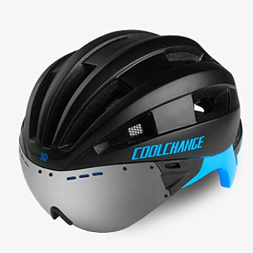 JM- Fahrradhelm mit Brille integriert Männer und Frauen Rennrad Mountainbike Fahrradhelm