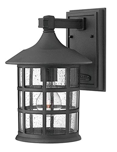 Hinkley 1804BK Traditional One Light Wall Mount from Freeport collection in Black finish, Medium