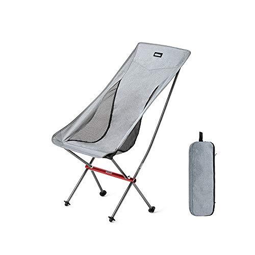 Daily necessities LTD [ZZHQ] Folding MoonChair, Ultra Light Aluminum Alloy Outdoor Camping Office Portable Chair Folding Ultra Light, for Backpacking/Hiking/Picnic/Fishing/Beach/Garden