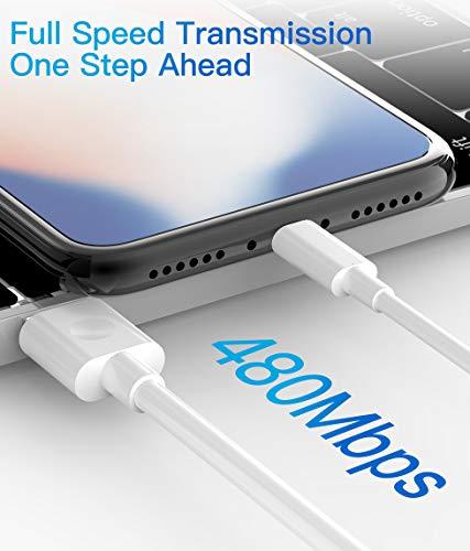 Quntis 3Pack 2m iPhone Ladekabel, MFi Zertifiziert USB A auf Lightning Kabel, iPhone Kabel kompatibel mit iPhone SE 2020 11 Pro XS Max XR X 8 Plus 7 Plus 6 Plus 5s SE iPad Pro Air Mini iPod Airpods