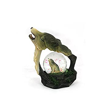 unison gifts YJF-555 4.5 INCH Howling Wolf WATERGLOBE Multicolor