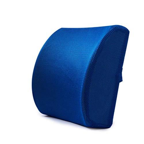 HUADUO Asiento de Coche Cojín Mat Coccyx Ortopédico Memory Foam Chair Masaje Mat Cojín de Respaldo Cojín Office Nap Therapy, Tela de Pantalla Azul, Ver Detalle
