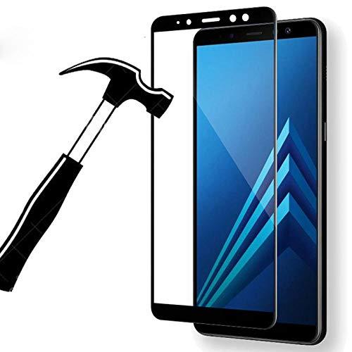 [3 paquetes]Pantalla completa Cristal Templado para Samsung Galaxy A8 Plus 2018 A5 A7 A8 A3 2017 S7 S6 S5 Nota 5 4 3 Protector de pantalla Película de vidrio Para A8 2018_Dorado_Para A8 2018_Dorado