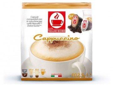 Cappuccino - 50 Stück Kompatible Kaffeekapseln von Caffè Bonini Italien. Kompatibel für alle Dolce Gusto®* Maschinen u.a. Grundpreis 100g: 2,44€