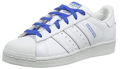 adidas Superstar J, Scarpe da Ginnastica Unisex Bambini, Bianco (Ftwr White/Ftwr White/Light Pink Ftwr White/Ftwr White/Light Pink), 38 EU