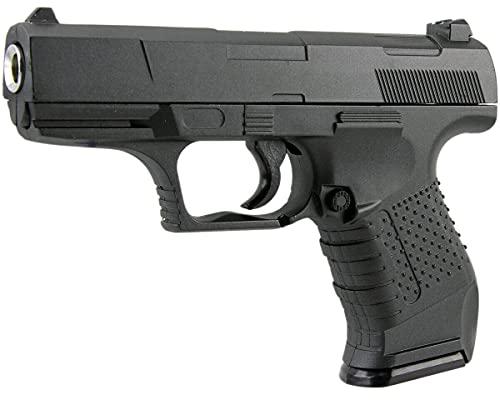 B.W. Softair Gun Airsoft Pistole + Munition | G19 - Schwarz Profi Vollmetall | 18cm. Inkl. Magazin & unter 0,5 Joule (ab 14 Jahre)
