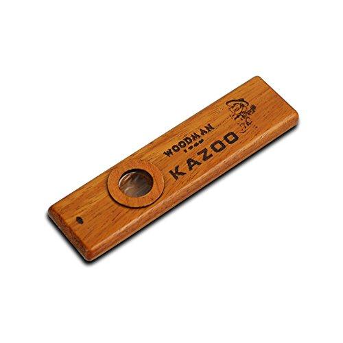 AKAUFENG Kazoo Holz Musikinstrumente mit Metall Box