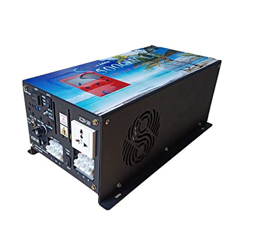 POWER JACK WccSolar Inverter 5000W LF Inversor Onda Pura del Seno DC 24V to AC 230V+LCD+Cargador