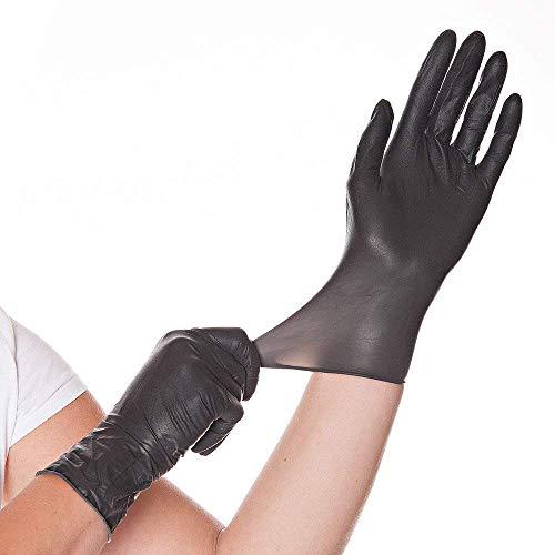Franz Mensch 26718 Diabo - Guantes de látex (talla L), color negro